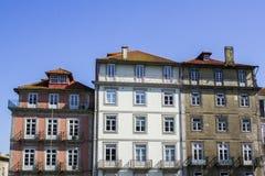 Kleurrijke huizenvoorgevels royalty-vrije stock foto's
