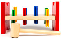 Kleurrijke hulpmiddelen voor de jonge timmerman Stock Fotografie