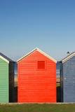 Kleurrijke hutten Stock Foto's