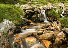 Kleurrijke Ierse bergstroom Croagh Patrick stock afbeelding