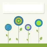 Kleurrijke Illustratie met Abstracte Bloemen stock illustratie