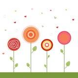 Kleurrijke Illustratie met Abstracte Bloemen Royalty-vrije Stock Fotografie
