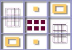 Kleurrijke illustratie van in de schaduw gestelde vierkanten Stock Afbeeldingen