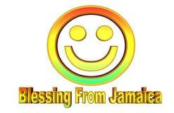 Kleurrijke Illustratie van een ` die van Jamaïca het glimlachen gezicht ` zegenen dat gaat exploderen stock illustratie