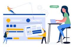 Kleurrijke illustratie van een klantgericht gebruikersvriendelijk ontwerp vector illustratie