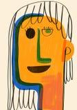 Kleurrijke illustratie van moeder` s dag Stock Fotografie