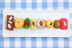 Kleurrijke Indische snoepjes Stock Foto's