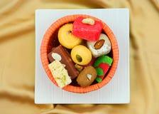 Kleurrijke Indische snoepjes Stock Fotografie