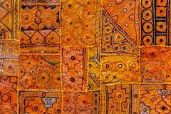 Kleurrijke Indische stoffentextiel. India Stock Afbeeldingen