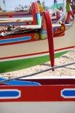 Kleurrijke Indonesische boten Royalty-vrije Stock Foto's