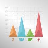 Kleurrijke infographic diagramelementen met driehoek Stock Fotografie