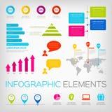 kleurrijke infographicselementen Royalty-vrije Stock Foto's