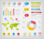 kleurrijke infographicselementen Stock Afbeeldingen