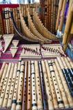 Kleurrijke inheemse markt van Otavalo Stock Foto's