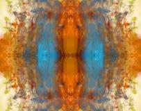 Kleurrijke inktachtergrond stock foto