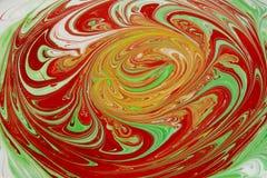Kleurrijke inktachtergrond Stock Fotografie