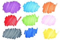 Kleurrijke inktkrabbels Stock Foto