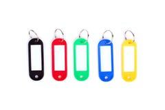 Kleurrijke inzameling van een sleutel FOB op witte achtergrond Royalty-vrije Stock Foto's