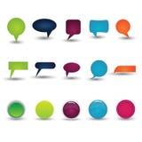 Kleurrijke inzameling van praatje-Doos Royalty-vrije Stock Afbeeldingen
