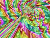 kleurrijke iriserende abstracte fractal Stock Foto's