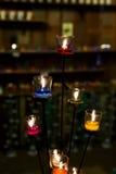 Kleurrijke kaarsen Royalty-vrije Stock Afbeeldingen