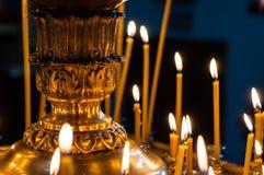 Kleurrijke Kaarsen Stock Afbeelding