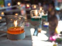 Kleurrijke kaarsen Stock Foto's