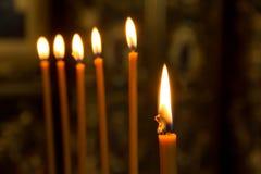Kleurrijke Kaarsen Royalty-vrije Stock Fotografie