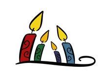 Kleurrijke kaarsen Stock Fotografie
