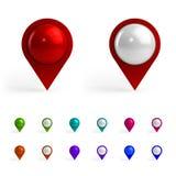 Kleurrijke Kaartmarkeringen Stock Afbeelding