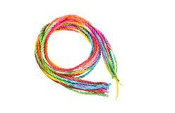 Kleurrijke kabel op witte achtergrond Stock Afbeeldingen