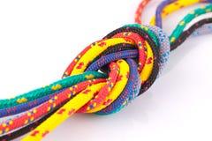 Kleurrijke kabelknoop Stock Foto