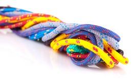 Kleurrijke kabellijnen Stock Foto