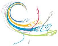 Kleurrijke kabels Stock Afbeeldingen