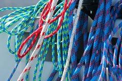 Kleurrijke kabels stock afbeelding