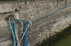 Kleurrijke Kabels op de Zegenrivier, Parijs Frankrijk Royalty-vrije Stock Fotografie