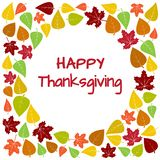 Kleurrijke kader en achtergrond van de herfstbladeren voor Gelukkige Dankzegging Vector vector illustratie