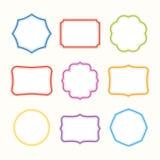 Kleurrijke kaders. Vectorillustratie. Royalty-vrije Stock Foto