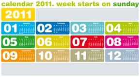 Kleurrijke Kalender 2011 Royalty-vrije Stock Foto's