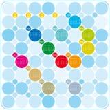 Kleurrijke Kalender voor 2009 Stock Foto's