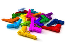 Kleurrijke kanonnen royalty-vrije stock afbeelding