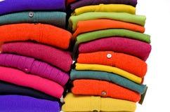 Kleurrijke kasjmieralpaca en merinoswol Stock Foto