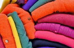 Kleurrijke kasjmieralpaca en merinoswol Stock Foto's