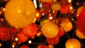 Kleurrijke katoenen lichte bal Royalty-vrije Stock Afbeelding