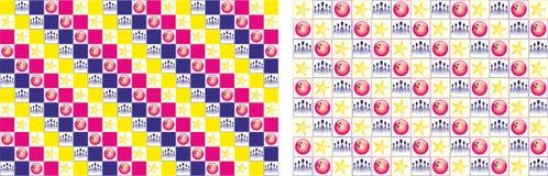 Kleurrijke kegelencollage Stock Foto's