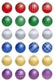 Kleurrijke kerstboomballen Stock Afbeelding