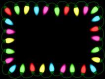Kleurrijke Kerstmis/partijlichtengrens Stock Foto