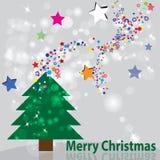 Kleurrijke Kerstmisachtergrond Royalty-vrije Stock Afbeelding