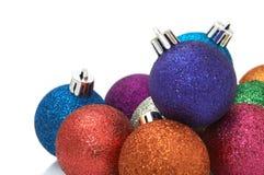 kleurrijke Kerstmisballen Stock Foto's
