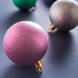 Kleurrijke Kerstmisballen Royalty-vrije Stock Foto